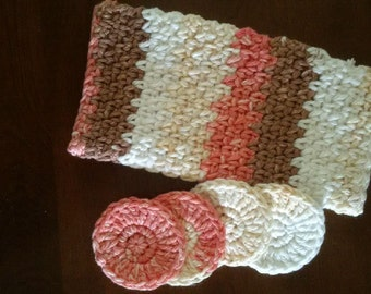 Cream, Brown and Peach Spa Kit