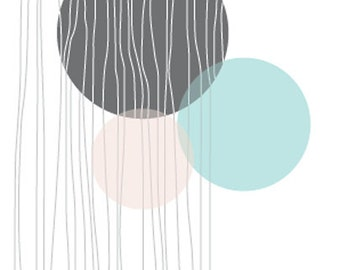 Abstract Rounds Blank Greeting Card