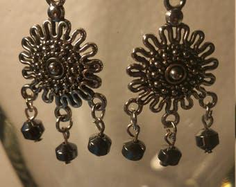 Hematite stone earrings
