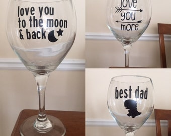 Custom Wine Glasses...bridesmaids/groomsmen/personlized gifts/just because