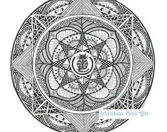 Mandala Soul Art Cats and Quilts