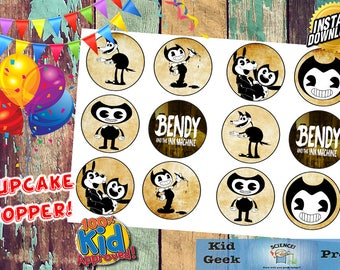 Bendy and the Ink Machine video game Cupcake Toppers! Great for Birthday Parties!