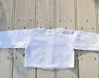 Baby / bra / France / quilted cotton and lace / white