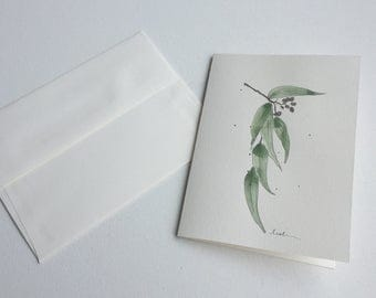 Greeting card - herbarium - handmade