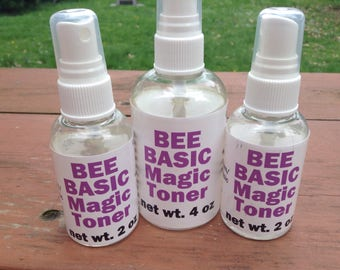 "Handmade, Beautifying, ""Magic"", Facial Toner, face toner, natural, witch hazel, rose water, refreshing, luxurious, skin perfecting, handmade"