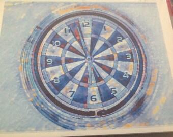 Creative clock print