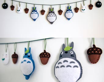 My Neighbor Totoro Felt Garland, Nursery Decor
