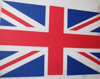British Flag, United Kingdom Vintage Iron On/Heat Press Transfer