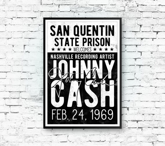 johnny cash art print johnny cash poster country music. Black Bedroom Furniture Sets. Home Design Ideas