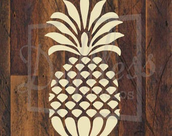 Pineapple Stencil, Welcome Stencil, Pineapple Template, Pineapple Wall Art