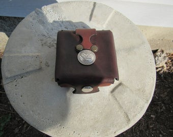 Leather fly fishing box