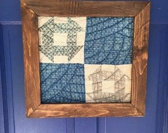 Framed Blue Quilt