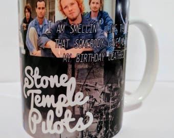Stone Temple pilots tribute coffee mug               tea/espresso machine bean rock stp