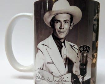 Hank Williams Sr. coffee mug tribute .