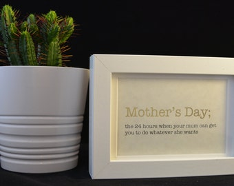 Urban Dictionary Wall Art / Mother's Day Definition / Dictionary Art / Funny Definition / Word Art