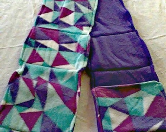 Made to Order Double Layer Fleece Scarf with Hand Warming and Storage Pockets.