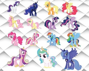 My little pony svg,jpg,eps,png for Design/Print/ Silhouette Cameo/Cricut& Many More