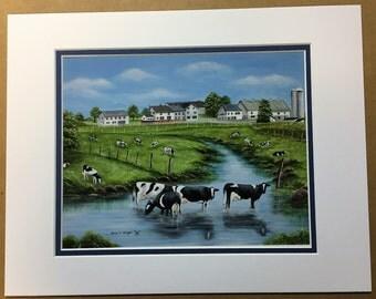 Refreshing Meadows Oil Painting Print