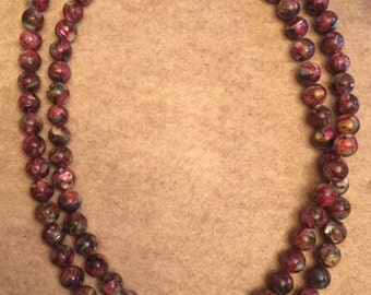 Multicolored Round Beads from China with Magnetic Clasp