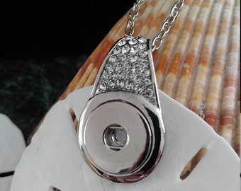 Rhinestone Snap Pendant, Snap Jewelry, Snap Pendant Jewelry, Fits 18-20MM Snaps, Snap Necklace