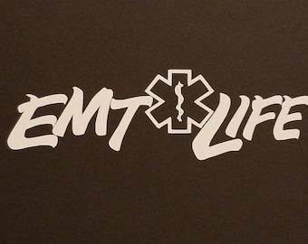 EMT Decal, Fireman Decal, Firefighter Decal, Vinyl  Decal, Auto Decal, Vinyl Sticker, Fireman Sticker, Firefighter Sticker, EMT Life