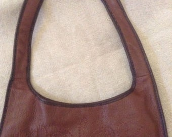 Leather Embroidered Purse / Peruvian Collection