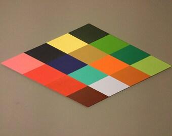 Hardedge geometric acrylic artwork