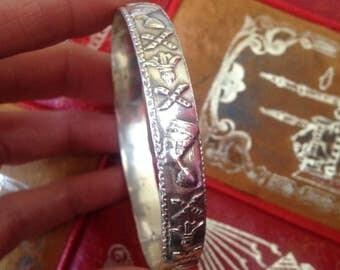 Sterling Nefertiti bracelet from Egypt