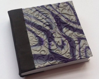 Purple and silver notebook journal diary sketchbook gratitude journal