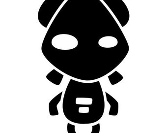 Cute Robot Vinyl Decal #9