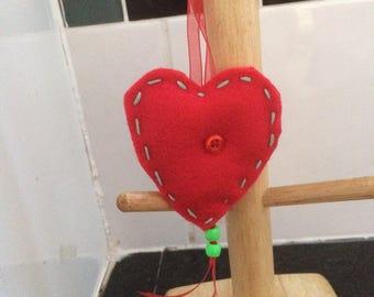 Medium red felt heart