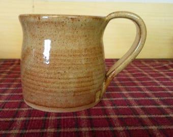 Light Rust pottery coffee mug,  pottery coffee mug,  ceramic coffee mug,  large coffee mug, ceramic coffee cup,  pottery coffee cup,