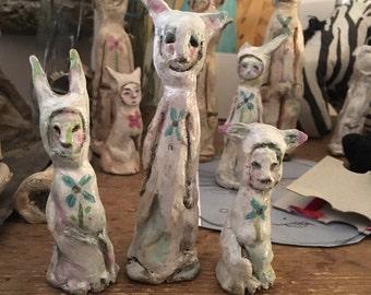 Clay Figurines - 3 Kat People