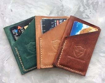Minimalist leather credit card holder Credit card case Card holder Slim leather wallet Credit card sleeve Mini Wallet Leather Card Case