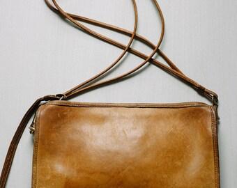 Vintage 1970s Coach Black Leather Coach Handbag / 70s Coach Clutch Convertible Shoulder Purse / New York USA COACH Wristlet Clutch