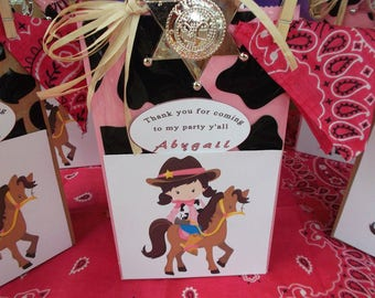 Cowgirl Treat bags, Favor bags, Western theme favor bags, Cowgirl goodie bags Set of 10