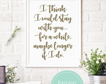 SALE: I think I could stay with you, for a while maybe longer if I do   Pure Prairie League Aime Song Lyrics   Song Lyric Printable