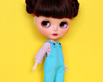Blythe Overalls and Shirt, Playsuit, Neo Blythe Outfit
