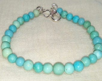 7.5 inshes Beautiful Handmade Natural Terquoise Beads Bracelet