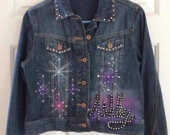 Dancer Airbrushed Denim Jacket- Child Size