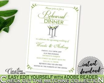 Rehearsal Dinner Invitation Bridal Shower Rehearsal Dinner Invitation Modern Martini Bridal Shower Rehearsal Dinner Invitation Bridal ARTAN