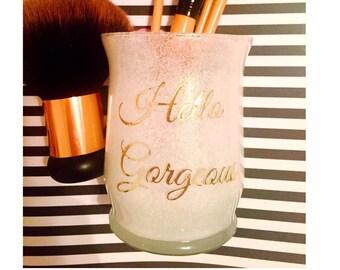 Makeup Brush holder, makeup brush cup, makeup organizer