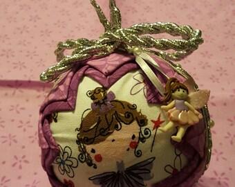 Ballerina Quilted Handmade Ornament