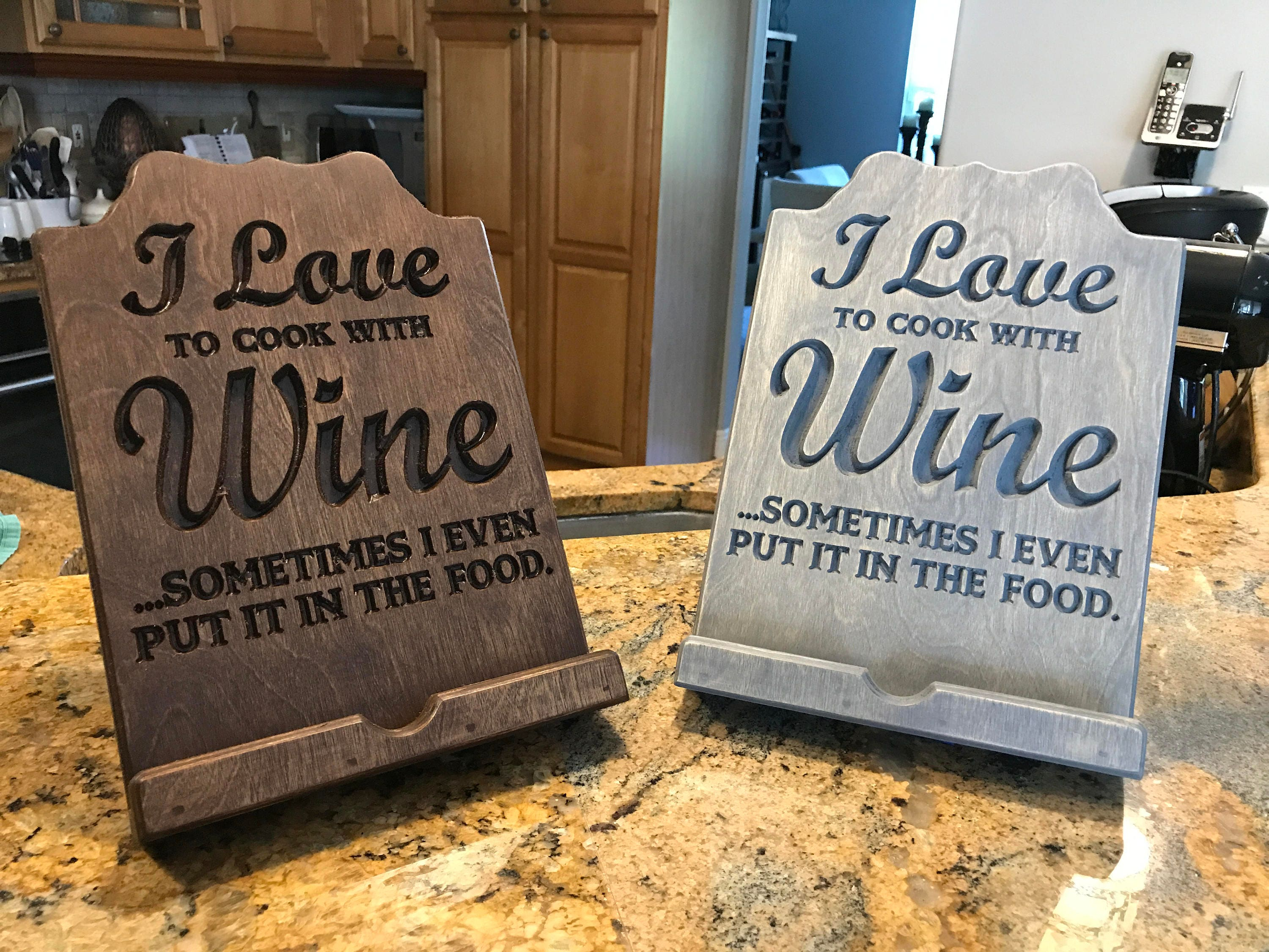 kitchen ipad cook book holder stand with i love to cook with wine