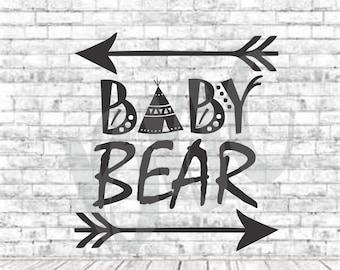Baby Bear, SVG, PNG, DXF, Vinyl Design, Circut, Cameo, Cut File, Baby, baby svg, newborn svg, Onesie Svg, Baby Shower Cut file, Onesie