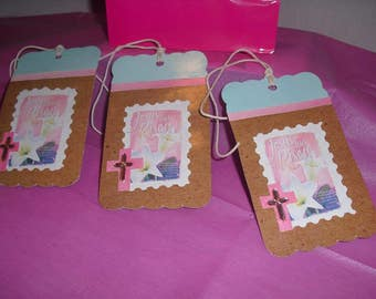 Easter inspirational Gift Tags with Cross