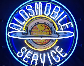 NEW Oldsmobile Service Garage Part Bar Real Neon Sign Light