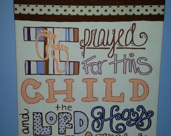 Canvas: For This Child I Have Prayed