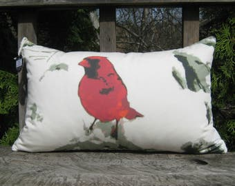 Includes Insert & Free Shipping! Cardinal pillow, Bird pillow, Nature pillow, Photograph, Cardinal throw pillow, Handmade item!