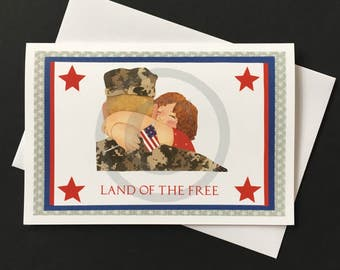 Patriotic Card-Soldier and Child